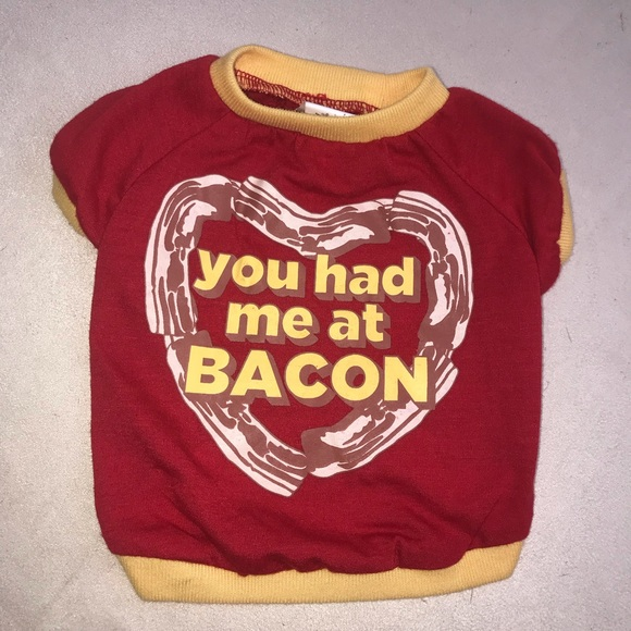 Other - Dog Pet Animal Tee T-Shirt Top Shirt Bacon Small